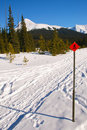 Snowshoe Trails Stock Photography