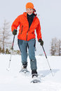 Snowshoeing Photo stock