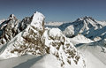 Snowy Alps Stock Photography