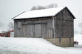 Snowy barn Royalty Free Stock Image