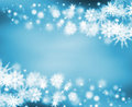 Snowy border Stock Images