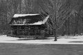 Snowy cabin Royalty Free Stock Photo