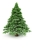 Snowy Christmas Tree Royalty Free Stock Images