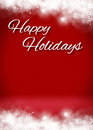 Snowy happy holidays d card background stage snow blank greeting template Stock Image