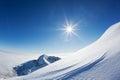 Snowy Mountain Landscape In A ...