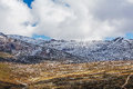 Snowy mountains covered in snow landscape. Australian Alps, Moun Royalty Free Stock Photo