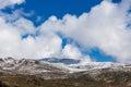 Snowy mountains landscape. Australian Alps, Mount Kosciuszko Nat Royalty Free Stock Photo