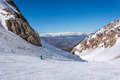 Snowy mountains in spain masella Royalty Free Stock Photos