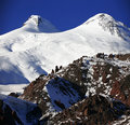 Snowy mt Elbrus Royalty Free Stock Photos