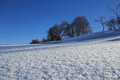 Snowy scenery with snowy crystal an untouched Royalty Free Stock Photography