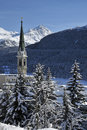Snowy Scenery in St. Moritz Royalty Free Stock Images