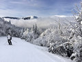 Snowy slope Royalty Free Stock Photo
