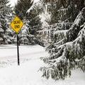 Snowy street scene. Stock Image