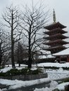 Snowy temple Royalty Free Stock Photo
