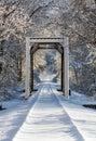 Snowy Train Trestle