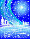 Snowy winter illustration Royalty Free Stock Photos