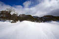 Snowy winter landscape a cold in mountains australia Royalty Free Stock Photos