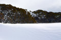 Snowy winter landscape a cold in mountains australia Royalty Free Stock Image