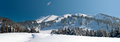 Snowy winter in mountain Royalty Free Stock Photo