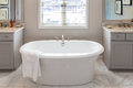 Soaking Tub in Modern Bathroom Royalty Free Stock Photo