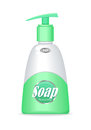 Soap Bottle with Spreader. Cosmetic Product Royalty Free Stock Photo