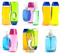 Soap Bottles Collage Stock Photography