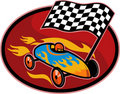 Soap box derby checkered flag Royalty Free Stock Images