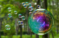 Image : Soap bubbles happy friends group