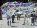 Soap Bubbles Of Street Artists