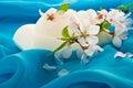 Jabón y flores