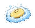 Soap in foam Royalty Free Stock Photo