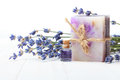 Soap with lavender Royalty Free Stock Photo