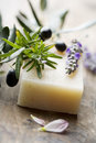 Soap with natural ingredients Royalty Free Stock Image