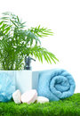 Soap and towel. Royalty Free Stock Photos