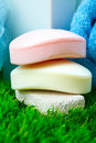 Soap and towel. Royalty Free Stock Image