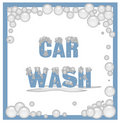 Soapy car wash sign Stock Photography