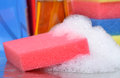 Soapy Sponge Royalty Free Stock Photos