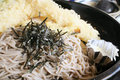 Soba Noodle and Tempura Street Food Royalty Free Stock Images