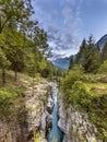 Soca river Gorge Royalty Free Stock Photo