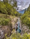 Soca river Gorge Slovenia Royalty Free Stock Photo