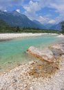 Soca river julian alps slovenia magnificent bovec Royalty Free Stock Photography