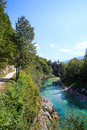 Soca river slovenia view of in europe Royalty Free Stock Images