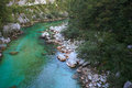 Soca river slovenia view of in europe Royalty Free Stock Photos
