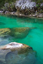 Soca river slovenia view of in europe Stock Photo