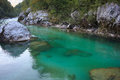 Soca river slovenia view of in europe Royalty Free Stock Photo