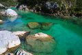 Soca river slovenia view of in europe Royalty Free Stock Image