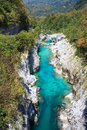 Soca river slovenia view of in europe Stock Photography
