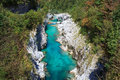 Soca river slovenia view of in europe Stock Image