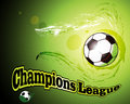 Soccer abstract background with ball champions league Stock Photo