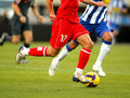 Soccer action Royalty Free Stock Photo